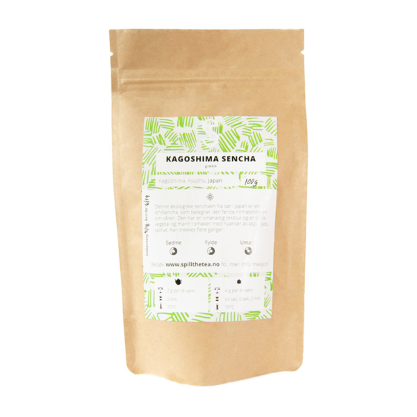 Pakke med Kagoshima Sencha grønn te