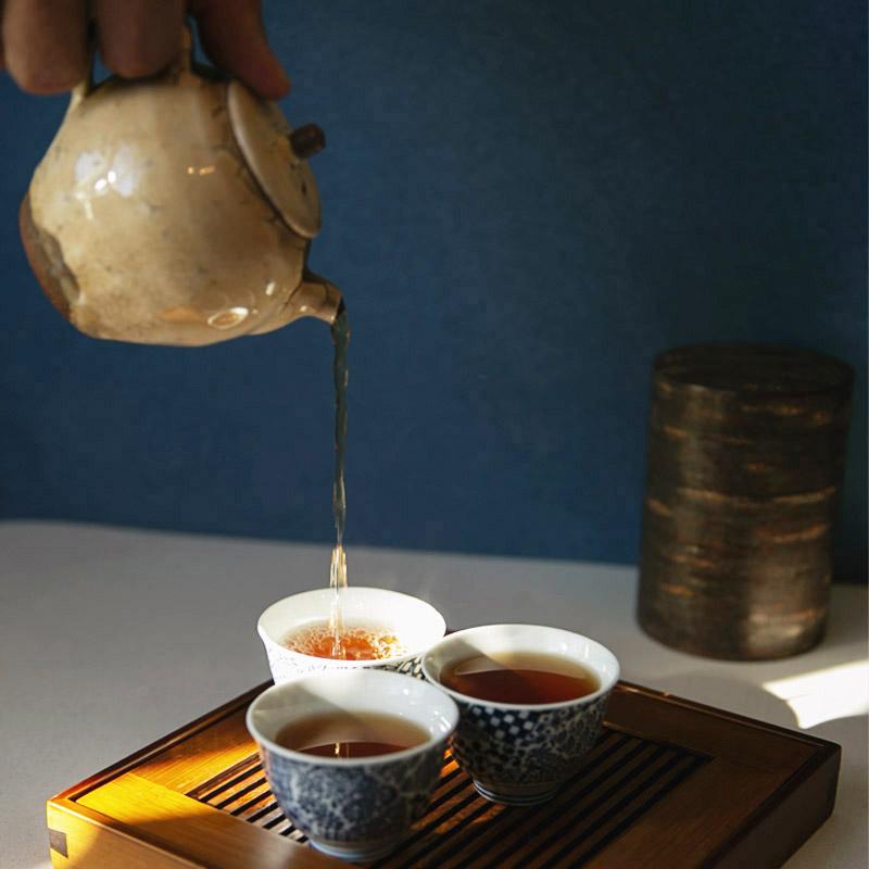 Rou Gui servert i gong fu cha-stil.