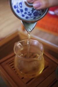 Chahei med te, en viktig del av gongfu bryggingen