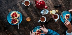 Afternoon tea, eller cream tea som det gjerne også kalles.