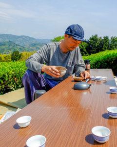 Testund i teåkerene i Shizuoka